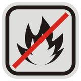 Предупредительный знак, остерегается опасности огня Стоковое фото RF