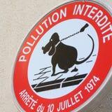 Предупредительный знак собаки Стоковые Изображения