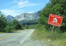 Предупредительный знак страны медведя Стоковое фото RF