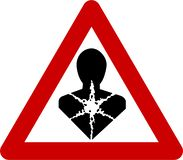 Предупредительный знак с карциногенными веществами иллюстрация вектора