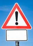 Предупредительный знак Стоковые Изображения