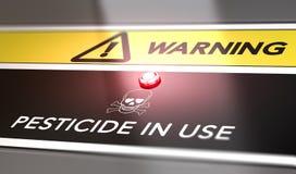 Предупредите выдержки пестицида стоковое изображение rf