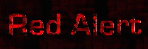 предупредите красный цвет Стоковые Фото