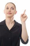 предупреждающая женщина Стоковое Фото