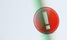 Предупреждающая икона, экран компьютера Стоковое Изображение RF