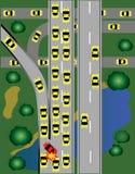 Предупреждающее движение на дороге бесплатная иллюстрация