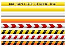 Предупреждающие ленты иллюстрация вектора
