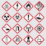 Предупреждающие пиктограммы вектора опасности иллюстрация штока