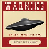 Предупреждающий поиск для UFOs Стоковые Фотографии RF
