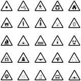 предупреждение вектора иллюстрации иконы установленное бесплатная иллюстрация