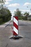 предупреждение движения знака Стоковое фото RF