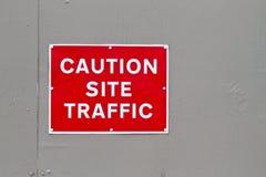предупреждение движения места знака предосторежения Стоковые Фотографии RF