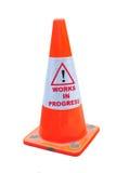 предупреждение дороги конуса Стоковые Изображения