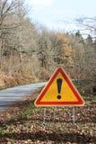 предупреждение знака восклицательного знака Стоковые Фотографии RF