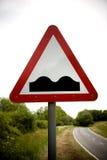 предупреждение знака горбов Стоковая Фотография