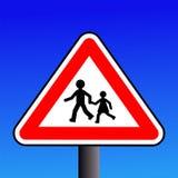 предупреждение знака детей иллюстрация штока