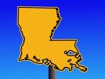 предупреждение знака Луизианы иллюстрация вектора