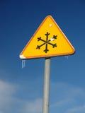 предупреждение знака льда Стоковая Фотография