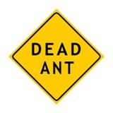 предупреждение знака муравея мертвое иллюстрация штока