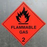 предупреждение знака опасности воспламеняющего газа Стоковое Фото