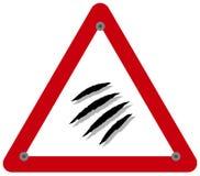 Предупреждение знака опасности дикого животного которое может причинить царапины и смертоносные укусы иллюстрация вектора
