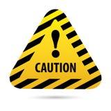 Предупреждение знака, опасность Стоковые Фотографии RF
