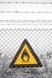 предупреждение знака пожара стоковые изображения