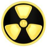предупреждение знака радиации Стоковые Фотографии RF