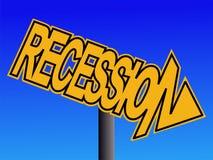 предупреждение знака рецессии бесплатная иллюстрация