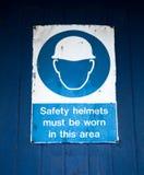 предупреждение знака трудного шлема Стоковое Изображение RF