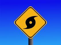 предупреждение знака урагана Стоковое Изображение