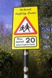 предупреждение знака школы Стоковое Изображение