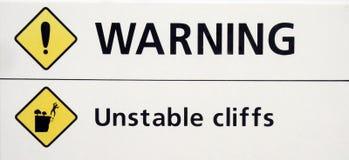 предупреждение знака Стоковые Изображения RF