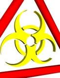 предупреждение знака biohazard 3d Стоковая Фотография RF