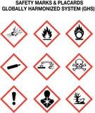 предупреждение знаков безопасности собрания Стоковые Фотографии RF