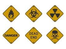 предупреждение знаков Стоковое Изображение