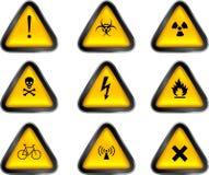 предупреждение кнопок Стоковое Изображение