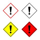Предупреждение, опасность, знак внимания, бдительный символ иллюстрация вектора