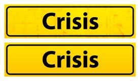 предупреждение плиты кризиса Стоковые Изображения RF