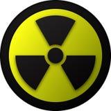 предупреждение символа иллюстрации ядерное Стоковая Фотография