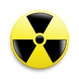 предупреждение символа радиации Стоковые Фотографии RF