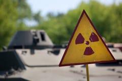 предупреждение символа радиоактивности Стоковые Изображения RF