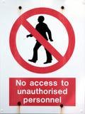 предупреждение 2 знаков Стоковые Фото