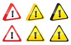 предупреждение Стоковые Изображения RF