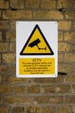 предупреждение tv знака цепи закрытое Стоковые Фотографии RF