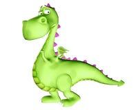 предчувствующий недоброе дракон шаржа Стоковые Изображения RF