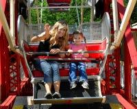 Предчувствующий недоброе о первой езде колеса Ferris стоковое изображение
