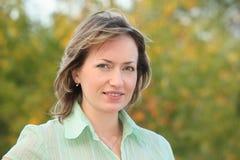 предыдущая женщина портрета парка падения Стоковое Фото