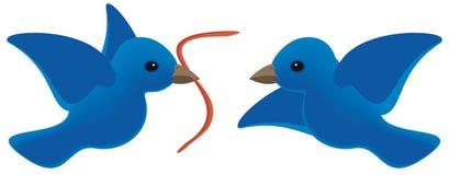 Предыдущая птица получает глиста Стоковая Фотография