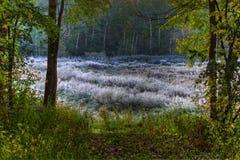 предыдущее ледистое утро ландшафта Стоковые Фотографии RF